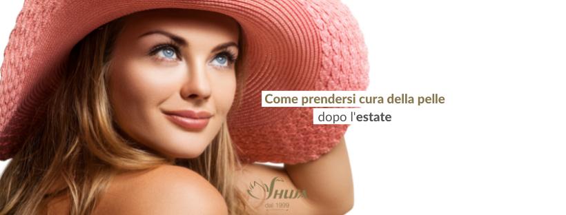 Prendersi cura della pelle dopo l'estate